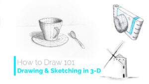 Drawing & Sketching in 3D Using Perspective
